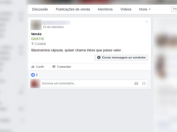 Em alguns casos, anunciantes pedem para interessados entrarem em contato via rede social (Foto: Reprodução/Facebook)