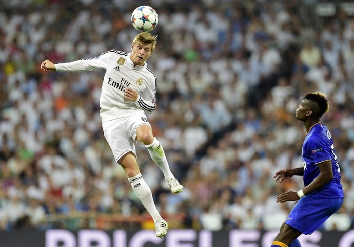 Kroos e Pogba - Real Madrid x Juventus (Foto: AFP)