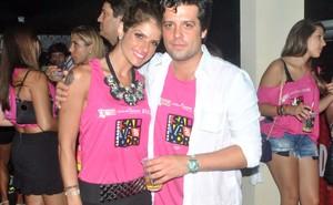 Carol Magalhães e  o namorado, Guilherme (Foto: Marcelo Machado/Ag Haack)