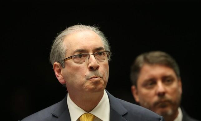 Deputado afastado Eduardo Cunha fez sua defesa em sessão na Câmara que votará sua cassação