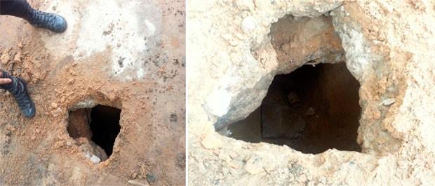 Túneis foram descobertos escavados nos pavilhões 1 e 4 de Alcaçuz (Foto: Divulgação/Direção de Alcaçuz)