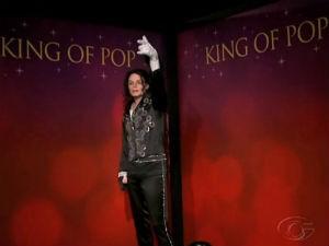 Estátua de cera de Michael Jackson (Foto: Reprodução/ TV Gazeta)