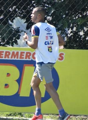 Mayke também foi outra novidade no treino do Cruzeiro (Foto: Maurício Paulucci)