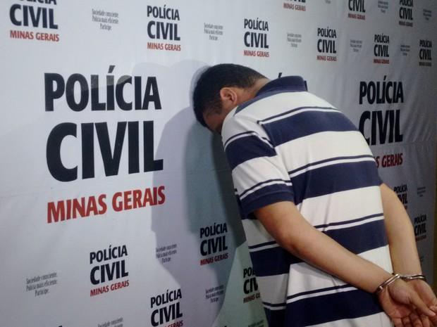 Um dos autores que foi preso aplicando golpe (Foto: Zana Ferreira /G1)