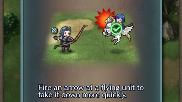 Unidades voadoras são muito úteis em Fire Emblem Heroes, mas extremamente vulneráveis a arqueiros (Foto: Reprodução/Rafael Monteiro)