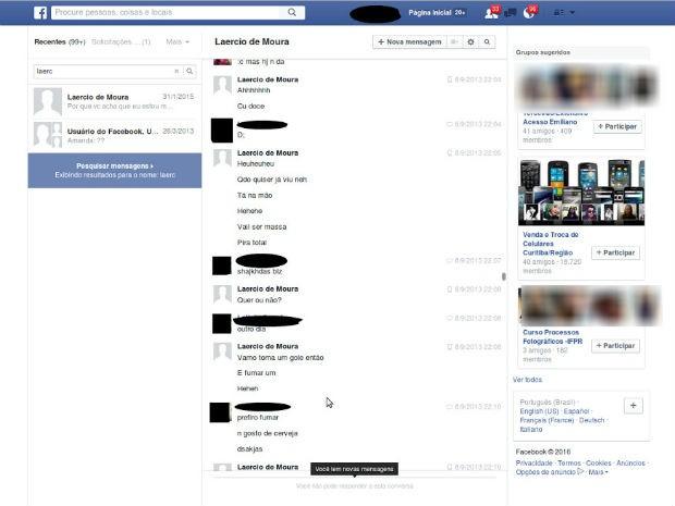 Prints de conversas do ex-BBB com a vítima em redes sociais são usados na investigação (Foto: Reprodução)