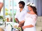 Deborah Secco compartilha 1ª foto de seu casamento com Hugo Moura