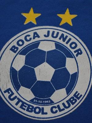 Escudo do Boca sergipano é diferente do original (Foto: Felipe Martins/GLOBOESPORTE.COM)