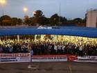 Metalúrgicos do Vale protestam contra projeto de lei da terceirização