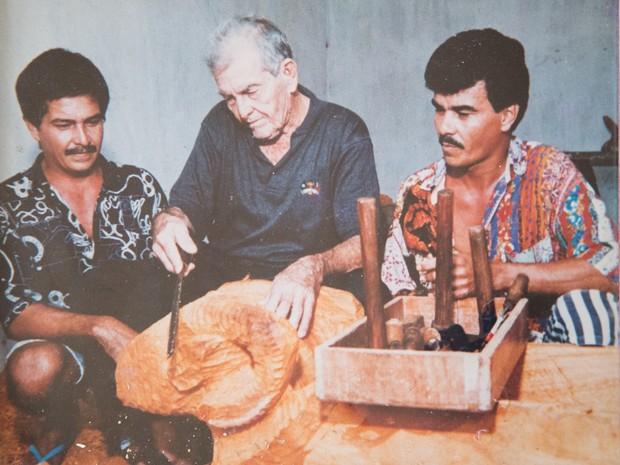 Manoel da Marinheira e os filhos Severino e Antônio. (Foto: Arquivo pessoal/ Família Marinheira)