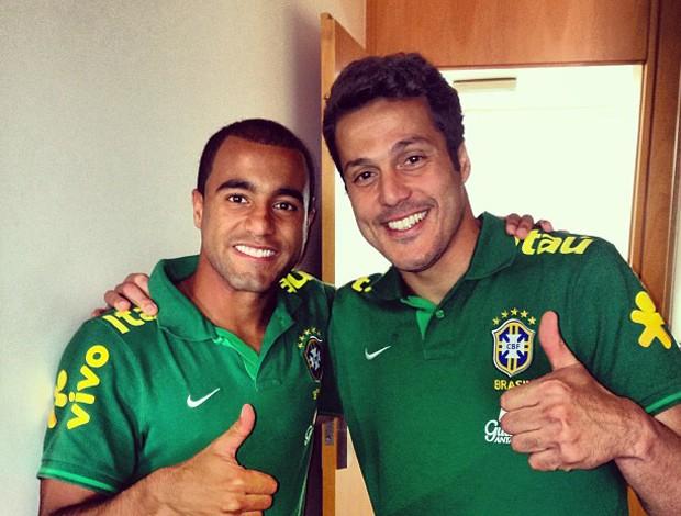 julio cesar seleção brasileira  lucas (Foto: Reprodução)