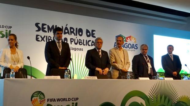 Evento Copa do Mundo em AL (Foto: Viviane Leão/GLOBOESPORTE.COM)