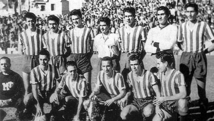 México atua com a camisa do Cruzeiro-RS pela Copa de 50 (Foto: Arquivo do Cruzeiro-RS)