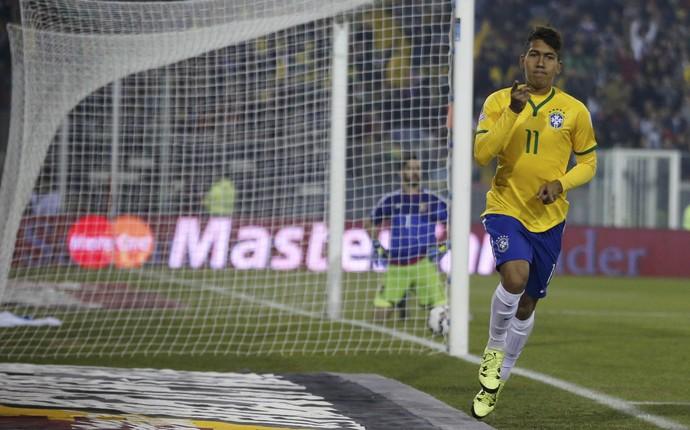 Roberto Firmino gol Brasil x Venezuela (Foto: Reuters)
