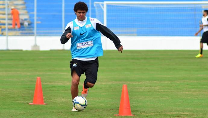 Victor Ferraz treino Santos em São José dos Campos (Foto: Danilo Sardinha/GloboEsporte.com)