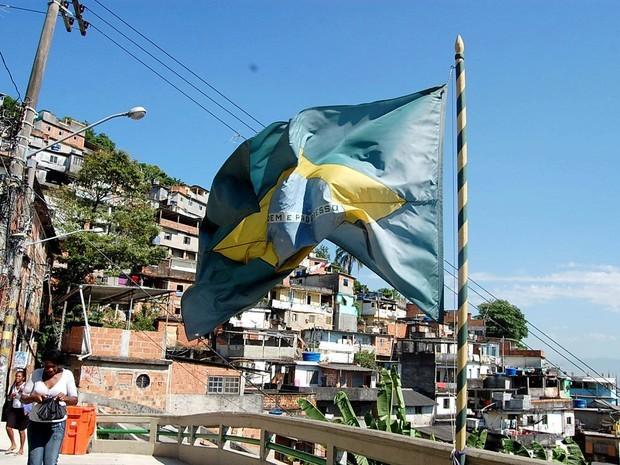 O Morro dos Prazeres, em Santa Teresa, Centro do Rio: pacificado há cerca de dois anos, o local vai receber a primeira edição da Flupp (Foto: Lorice Araújo/Governo do Estado)