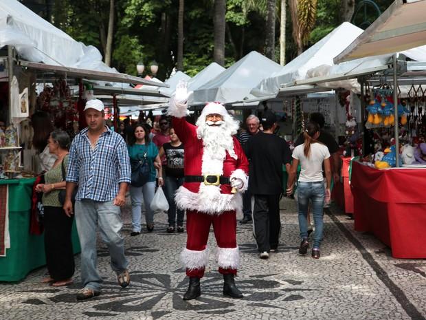 Papai Noel estará na Praça Osório para tirar fotos com as crianças (Foto: Jaelson Lucas/SMCS)