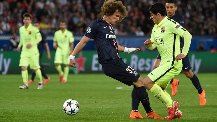 David Luiz Luis Suárez PSG Barcelona (Foto: AFP)