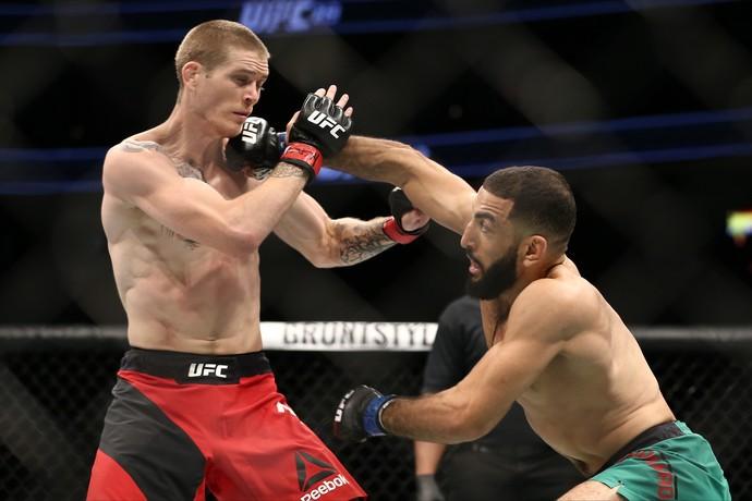 Belal Muhammad venceu Jordan Mein por decisão unânime (29-28, 29-28 e 30-27) (Foto: Getty Images)