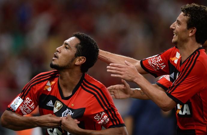 Hernane gol, Flamengo x Emelec (Foto: Alexandre Vidal/Fla Imagem)