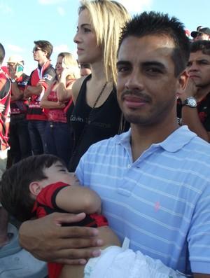 Maurício Gaúcho, ex-Campinense, vai ao Amigão assistir à final da Copa do Nordeste (Foto: Larissa Keren / Globoesporte.com/pb)