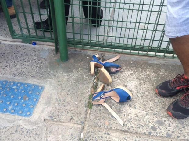Confusão causou correria na Unijorge (Foto: Maiana Belo/G1)