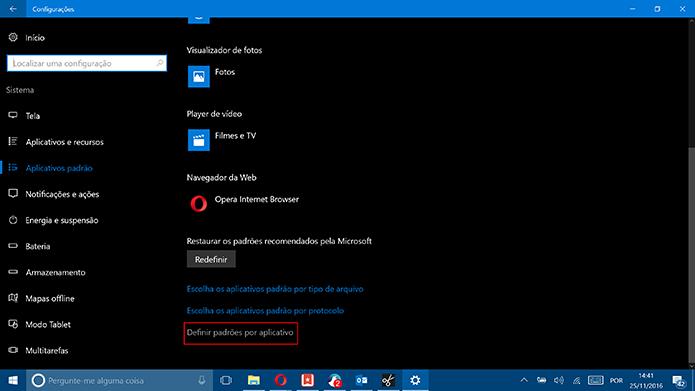 Windows 10 tem link para que usuário acesse interface do Painel de Controle (Foto: Reprodução/Elson de Souza)