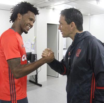 Rafael Vaz e Zé Ricardo Flamengo (Foto: Gilvan de Souza/Flamengo)