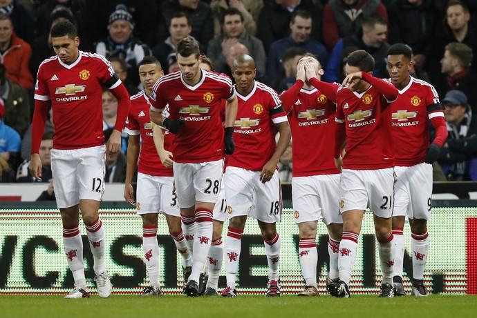Comemoração Rooney Manchester United x Newcastle (Foto: Reuters)