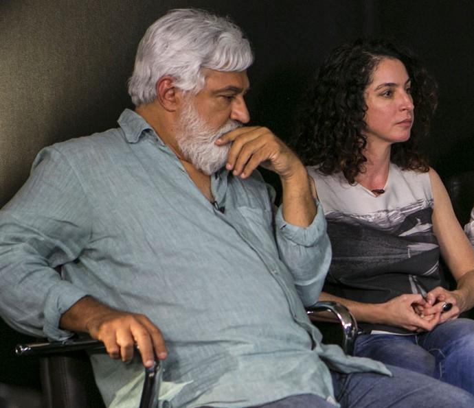 Os autores durante a gravação do webprograma de Totalmente Demais (Foto: Inácio Moraes/Gshow)