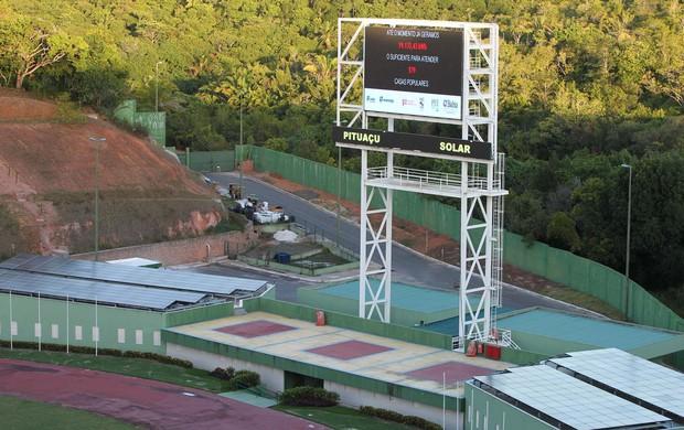 Placar eletrônico do estádio Pituaçu, na Bahia (Foto: Divulgação/ Governo da Bahia)