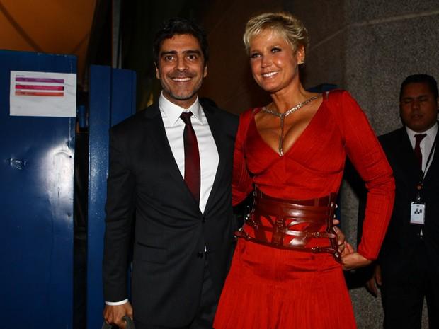 Junno e Xuxa em evento em São Paulo (Foto: Iwi Onodera/ EGO)