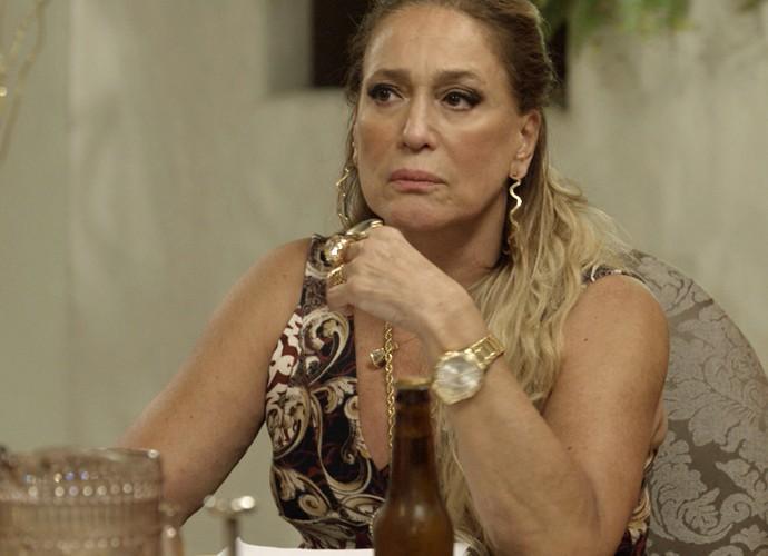 Adisabeba diz que irá pedir teste de DNA (Foto: TV Globo)