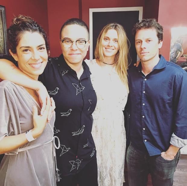Lua Leça, Maria Gadu, Carolina Dieckmann e Tiago Worcman (Foto: Reprodução/Instagram)
