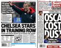 Imprensa inglesa destaca suposta briga entre Oscar e Diego Costa no Chelsea