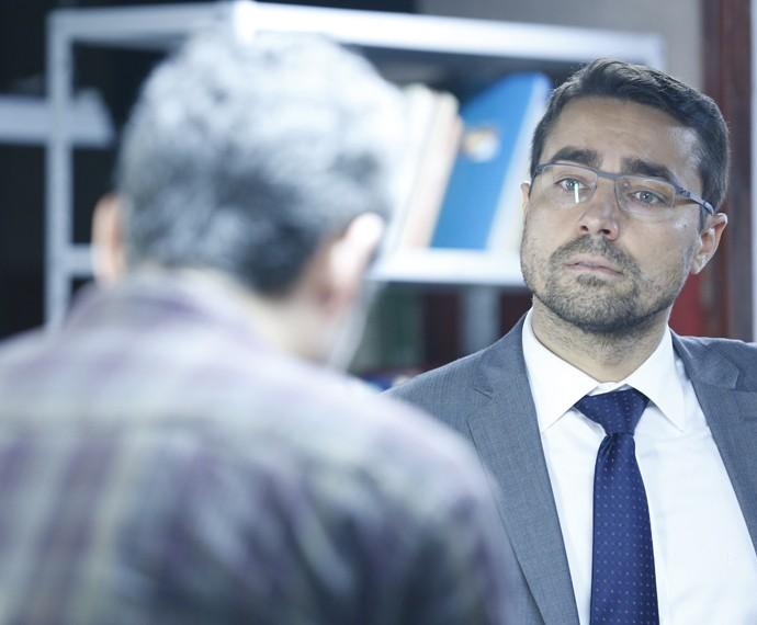 Faustini deixa Romero revoltado com acusações (Foto: Ellen Soares/ Gshow)