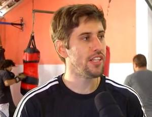 Gorka Sanchez, treinador Giovanni Soldado TUF 4 (Foto: Reprodução / Inter TV Cabugi)