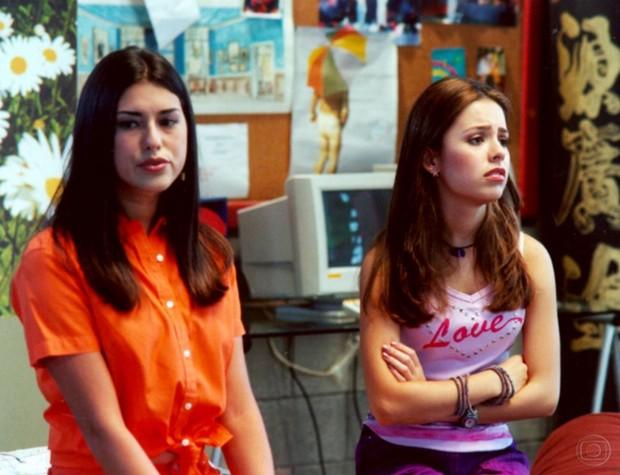 Sandy com Fernanda Paes Leme no seriado Sandy & Jr. (Foto: CEDOC)