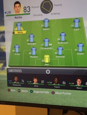 FIFA 17 - Manchester City ratings