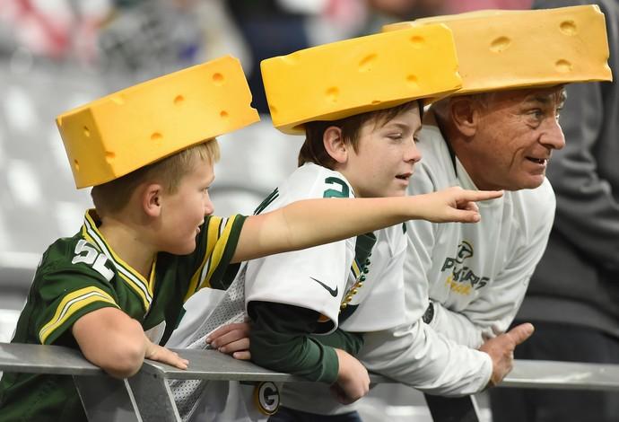 Green Bay Packers torcedores cabeça de queijo - nfl (Foto: Getty Images)