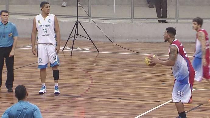 Internacional Basquete Santos (Foto: Reprodução / TV Tribuna)