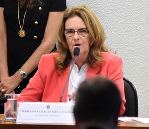 Graça Foster, presidente da Petrobras, comparece a audiência no Senado (Foto: Zeca Ribeiro / Câmara dos Deputados)