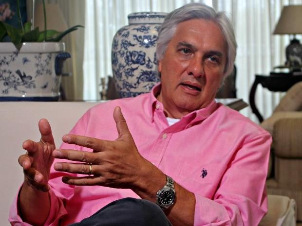 Delcídio do Amaral (PT) concedeu entrevista nesta terça-feira (28) (Foto: Tatiane Queiroz/ G1 MS)