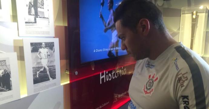Felipe França, nadador, museu Campinas (Foto: Divulgação)