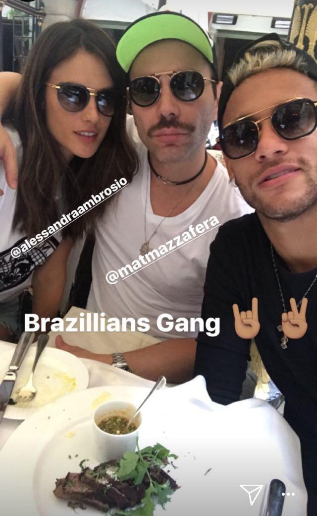 Alessandra Ambrosio, Matheus Mazzafera e Neymar (Foto: Divulgação)