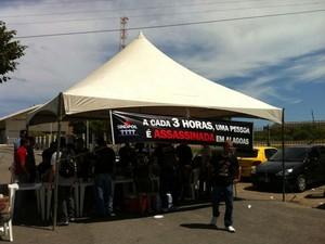 Policias civis estão em greve desde 7 de fevereiro (Foto: Cau Rodrigues/G1)