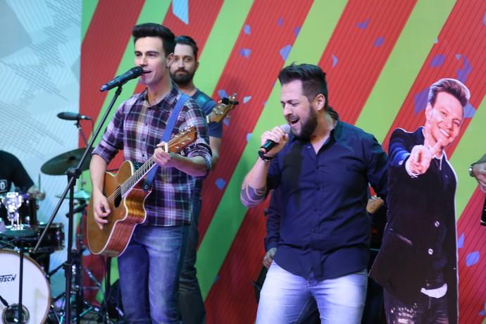 Felipe e Fabiano Estúdio C (Foto: Luiz Renato Correa/ RPC)