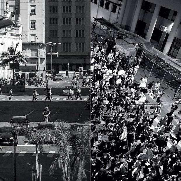 O BRASIL DAS PLACAS...E O BRASIL DAS RUAS (Foto: Ricardo Jaeger/ÉPOCA, Ricardo Duarte/Ag. RBS e reprodução)