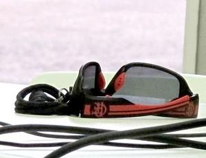óculos do Joel Santana Flamengo (Foto: Thales Soares / Globoesporte.com)