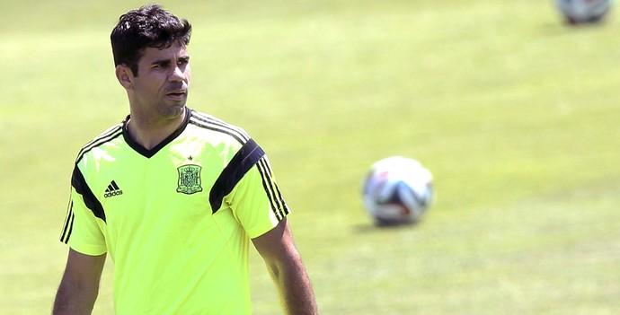 Diego Costa treino Espanha (Foto: Efeservicios)